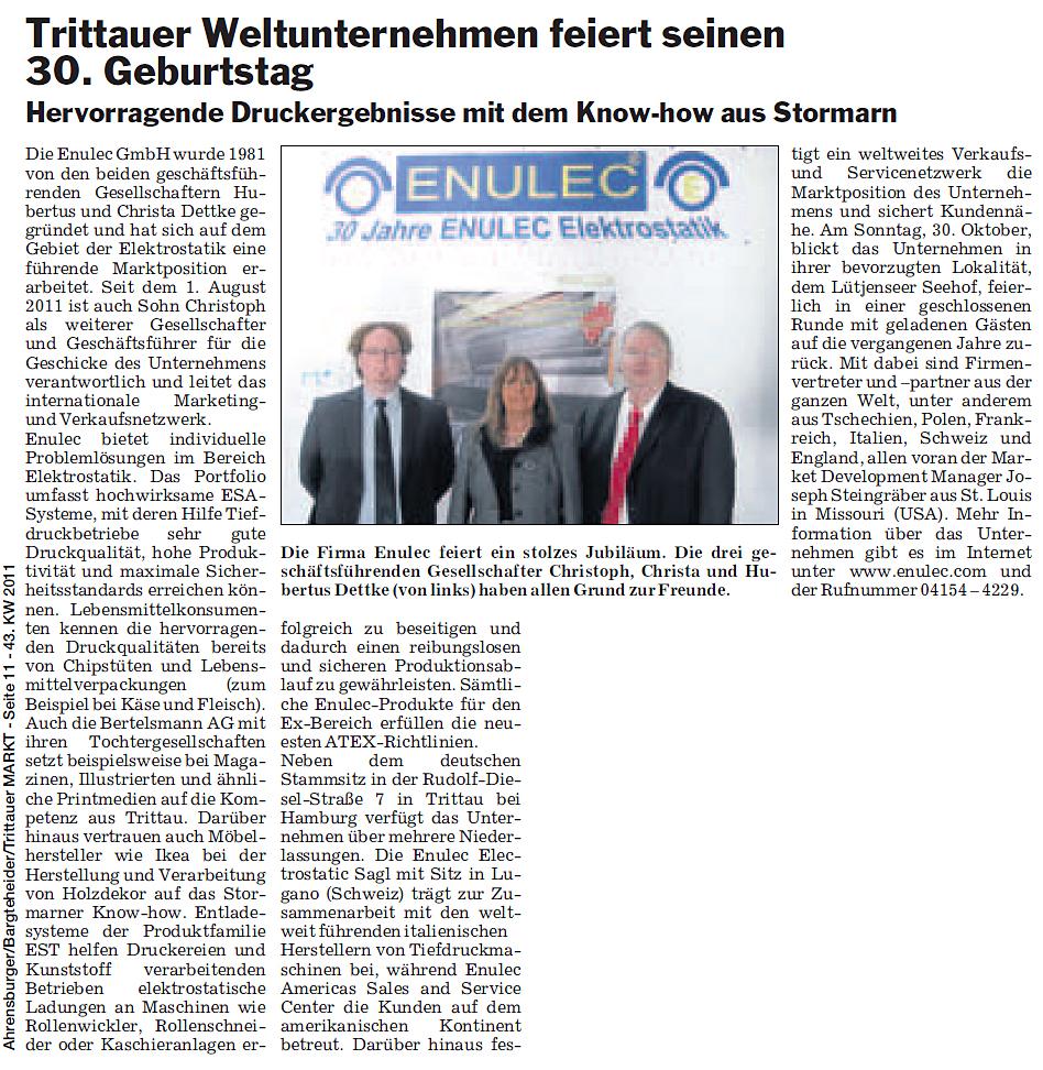 30 jähriges Jubiläum von ENULEC
